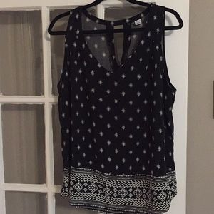 Black and White Old Navy Blouse